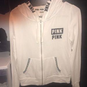 White pink hoodie